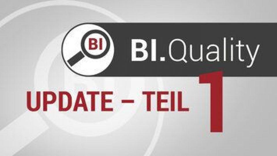 Datenqualität sichern! – Teil 1: Redesign von BI.Quality