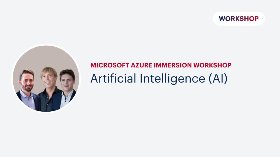 Microsoft Azure Immersion Workshop: Artificial Intelligence (AI)