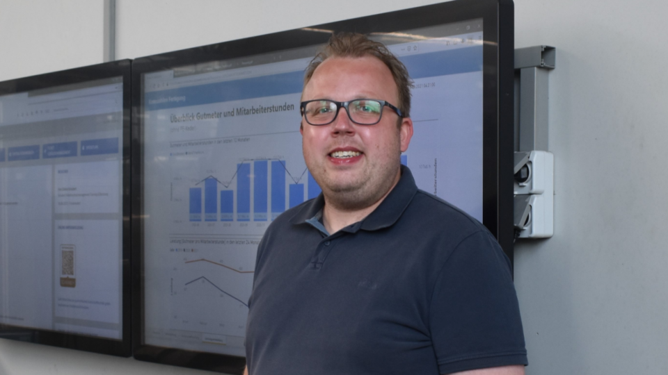 Marcus Schneider, Leiter Dispostion bei Elkamet freut sich über bessere Produktionsprozesse