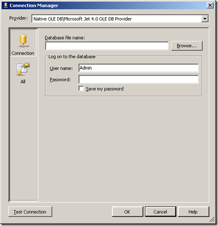 How to use an Excel 2003 file as a datasource for an SSAS
