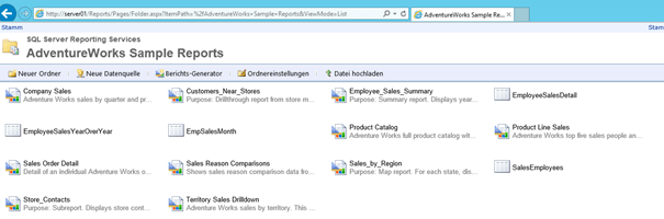Overview Reports in Report Manager