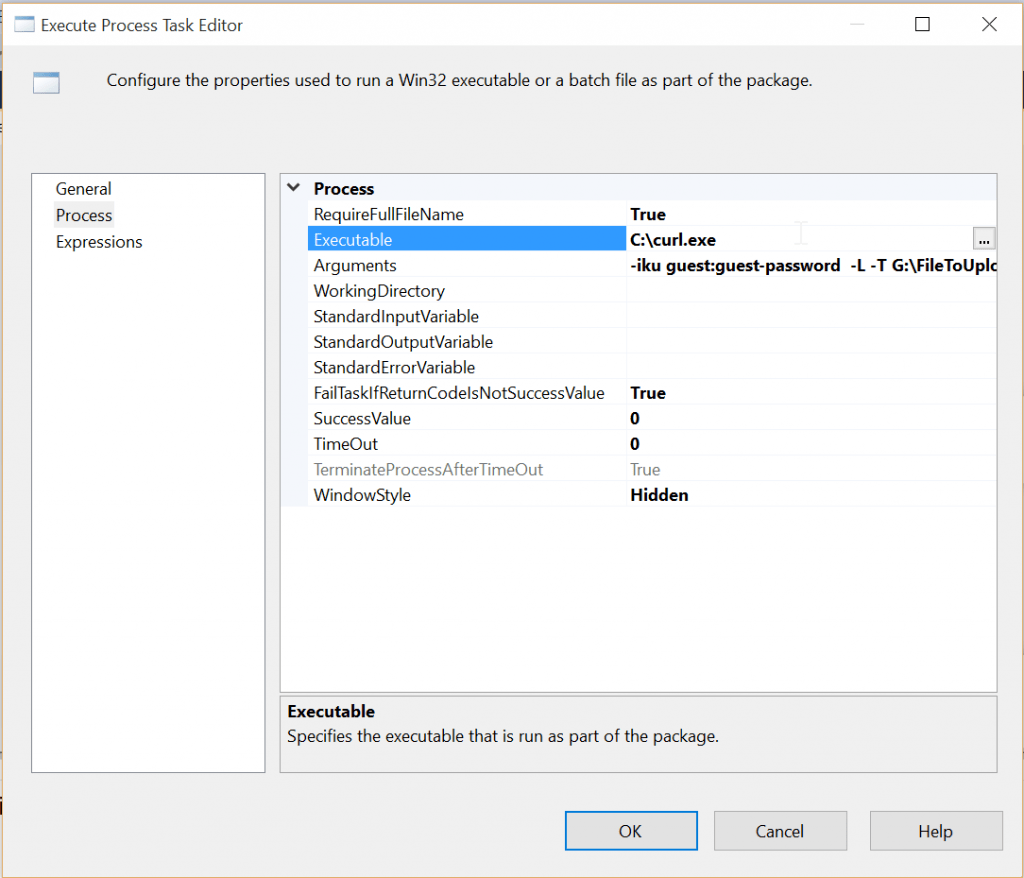 SSIS Execute Task