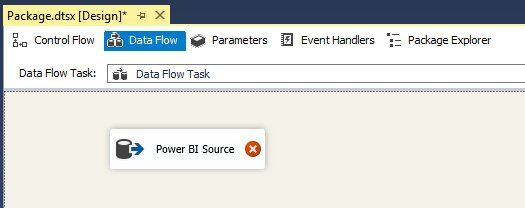 New SSIS Project with a new Data Flow Task and OLE DB