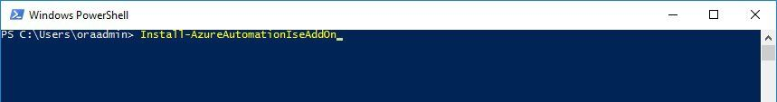PowerShell ISE Add-on activation