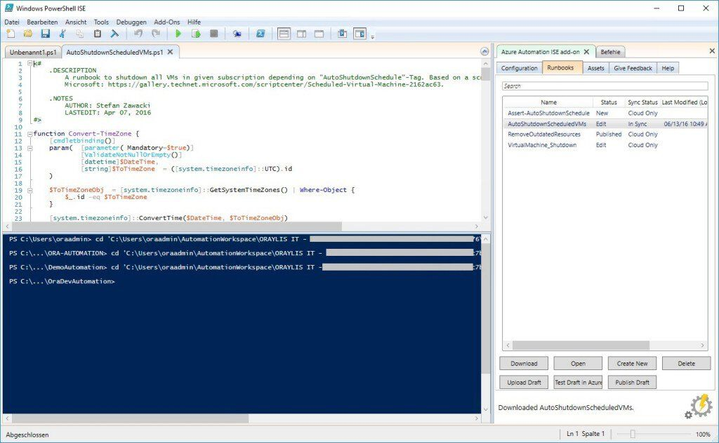 PowerShell ISE addon edit scripts