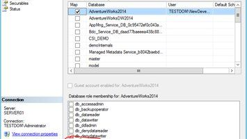 Bug in SQL Server Management Studio Adding Logins and Permissions