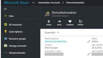 Azure Resource Manager: Automation Services